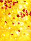 Maple autumn leaves autumn background — Stock Vector