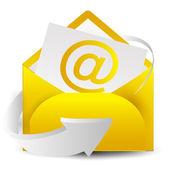 Mail letter icon — Vettoriale Stock