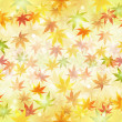 Stock Vector: Maple autumn background