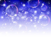 Sky background soap bubbles — ストックベクタ