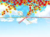 Auspicious decoration background maple — Stock Vector