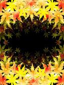Folhas de outono de maple fundo — Vetorial Stock