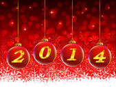 2014 Christmas snow background — Stock Vector