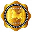 Horse gold medal — Stock Vector