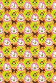 Fondo caballo año nuevo s tarjeta de felicitación — Vector de stock