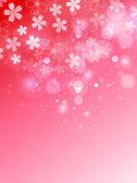 树背景粉红色樱桃 — 图库矢量图片