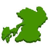 Japan kaart japan kaart — Stockvector