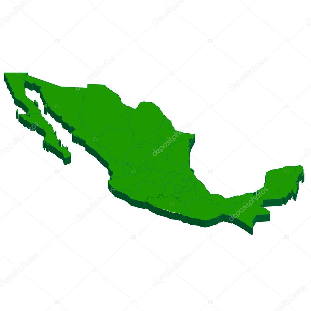Mexico map country   Vector by Mexico Country Vector