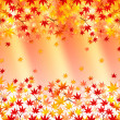 Maple autumn leaves background — Stock Vector #31132233