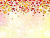Foglie di acero autunno sfondo — Vettoriale Stock