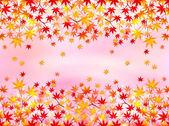 Feuilles d'érable automne fond — Vecteur