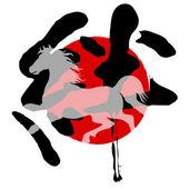 馬日本関係 — ストックベクタ