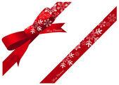 Christmas ribbon snow — ストックベクタ