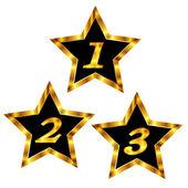 Estrella oro ligero — Vector de stock