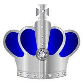Crown silver crown — Stock Vector