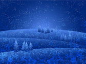 Christmas snow background — Vecteur