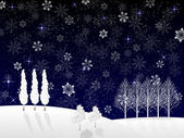 Christmas snow background — 图库矢量图片