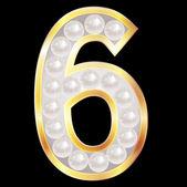 6 digit number — Stock Vector