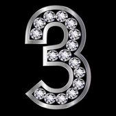 3 cijferige nummer — Stockvector
