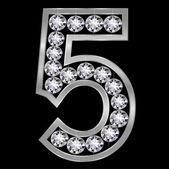 5 stellige Nummer — Stockvektor