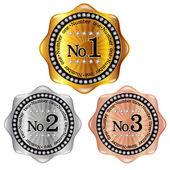 Number frame medal — Stock Vector