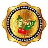 Christmas frame medal — Vettoriale Stock