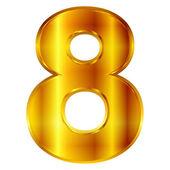 8 digit number — Stock Vector