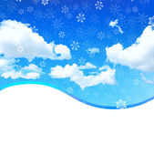 Snowy sky background — Stock Vector
