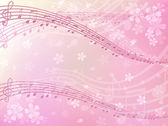 Sakura music background — Stock Vector