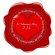 Valentine Heart medal — Stock Vector