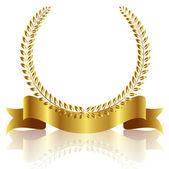 Laurel frame ribbon — Stock Vector