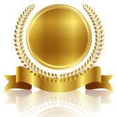 Laurel medal frame — Stock Vector