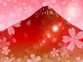 Fond de cerisier Fuji — Vecteur