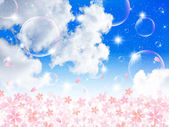 Sky background cherry — Stock Vector