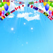 Stockvector : Balloon national flag background