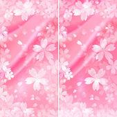 Cherry silk background — Stock Vector