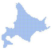Koło mapa hokkaido — Wektor stockowy