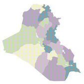 Iraq map Country — Vetor de Stock