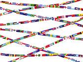 Drapeaux des pays du monde — Vecteur