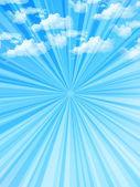 Ciel nuages paysage — Vecteur