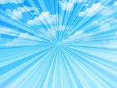 Cielo nubes paisaje — Vector de stock