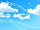 Sky krajinné pozadí — Stock vektor