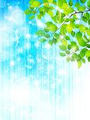 植物の葉の背景 — ストックベクタ