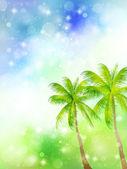 Palm sky landscape — Stock Vector