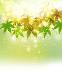 Fresh green sky landscape — Stock Vector