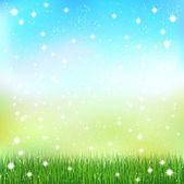 Sky fresh green landscape — Stockvector
