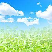 Leaf clover landscape — Stock Vector