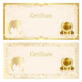 Certificate frame background — Stock Vector