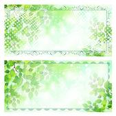 Leaf presentkort presentkort — Stockvektor