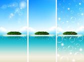 Paisagem de céu do mar — Vetor de Stock